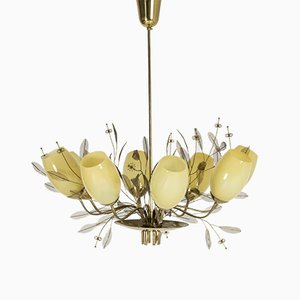 Large Vintage Bridal Bouquet Chandelier by Paavo Tynell for Taito Oy