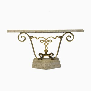 Vintage Tessellated Stone Console Table from Maitland Smith