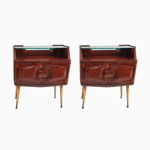 Mid-Century Nightstands in Rosewood, Set of 2