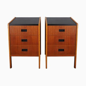 Mid-Century Swedish Bedside Cabinets, 1960s, Set of 2