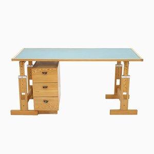 Verstellbarer Kiefernholz Schreibtisch von Asko, 1970er