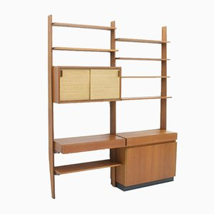 German Teak Wall Unit by Dieter Wäckerlin for Behr, 1950s