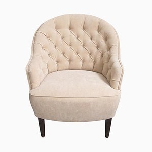 Vintage Swedish Armchair in Beige, 1940s