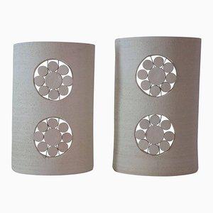 Ceramic Sconces by Georges Pelletier, 1970s, Set of 2