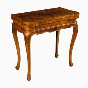 Mesa de juegos italiana de madera, años 50