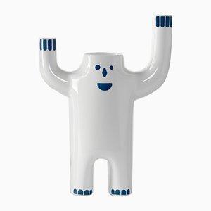 Petit Vase Blanc Animé Happy Susto par Jaime Hayon pour BD Barcelona