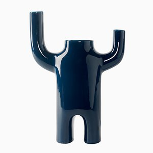 Blue Happy Susto Vase by Jaime Hayon for BD Barcelona