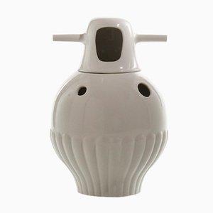 Vase Nº 3 Showtime Intérieur et Extérieur Blancs par Jaime Hayon pour BD Barcelona