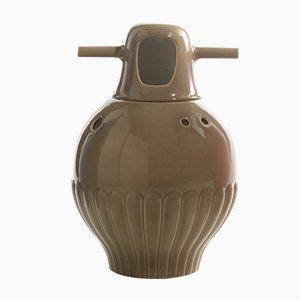 Showtime Vase Nº 3 Innen Weiß und Außen Graugrün von Jaime Hayon für BD Barcelona
