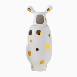 Showtime 10 Vase Nº 2 White with Golden Dots by Jaime Hayon for BD Barcelona