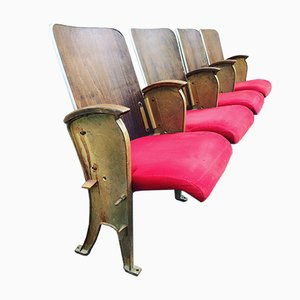 Parisian Theater Seats from Fourel, 1940s