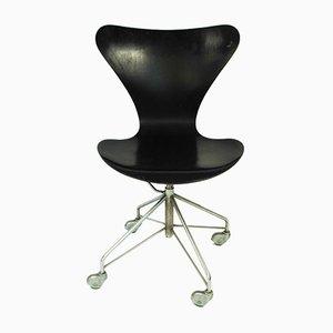 Chaise de Bureau par Arne Jacobsen pour Fritz Hansen, 1963