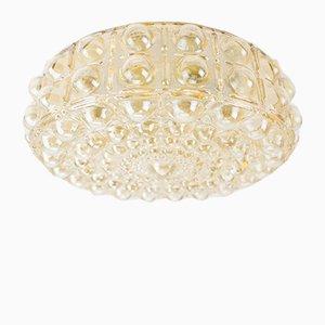 Große bernsteinfarbene Bubble Glas Lampe, 1960er