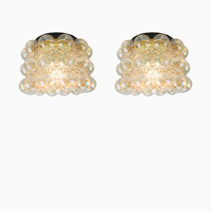 Bubble Glass Wall Lights by Helena Tynell for Limburg, 1960s, Set of 2