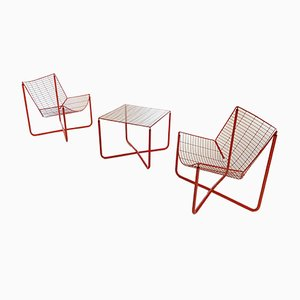 Jarpen Wire Living Room Set by Niels Gammelgaard for Ikea, 1983