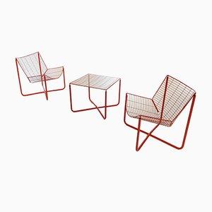 Juego de sala Jarpen Wire de Niels Gammelgaard para Ikea, 1983