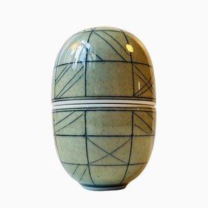 Recipiente elíptico vintage en forma de huevo de Poul E. Eliasen