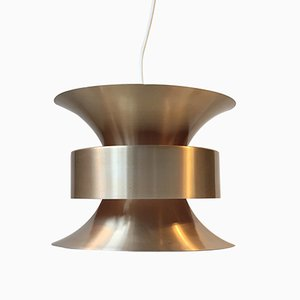 Vintage Swedish Brass Pendant Light by Carl Thore for Granhaga