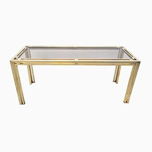 Large Brass Console Table, 1970s