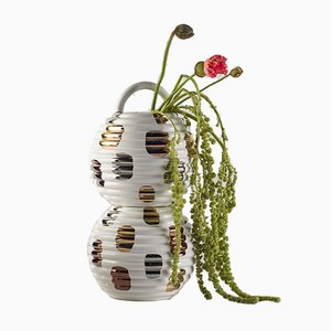 Grasso Vase Double Spotted White by Stephen Burks for BD Barcelona