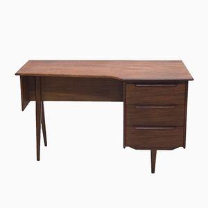 Mid-Century Danish Asymmetrical Teak Desk, 1960s