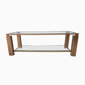 Brushed Brass Coffee Table from Belgo Chrom, 1980s