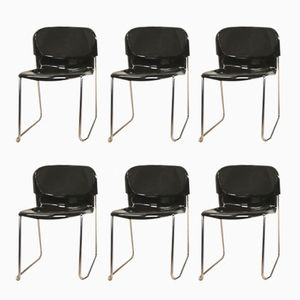 Swing SM 400 K Stackable Chairs by Gerd Lange for Drabert, 1980s, Set of 6