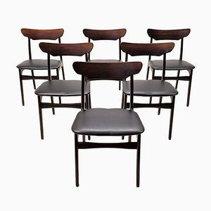 Mid-Century Rosewood Dining Chairs by Schiønning & Elgaard for Randers Møbelfabrik, 1960s, Set of 6