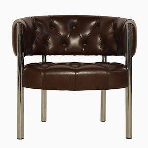 Chaise de Lobby en Cuir par Trix and Robert Haussmann pour Dietiker, 1960s