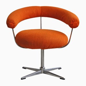 Vintage Orange Swivel Chair, 1960s