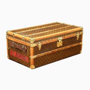 Antiker monogrammierter Koffer von Louis Vuitton, 1910er