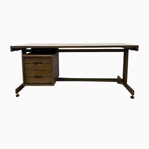 Mid-Century Italian Mahogany Desk, 1960s
