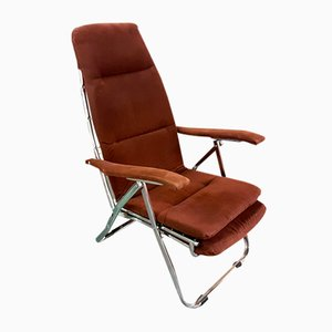 Vintage Brown Corduroy Extending Lounger from Maule Marga