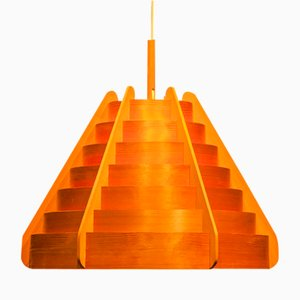 Wooden Pendant by Hans-Agne Jakobsson for Ellysett, 1960s