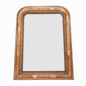 Antique Louis Philippe Mirror in Mercury Glass