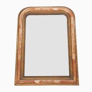Espejo Louis Philippe antiguo de vidrio mercurizado