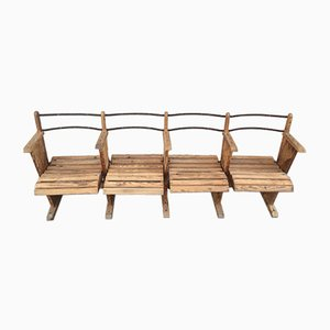 Antique Industrial Wooden Bench