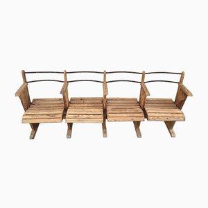 Antique Industrial Wooden Bench