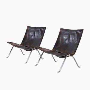 PK 22 Lounge Chairs by Poul Kjærholm for E. Kold Christensen, 1956, Set of 2