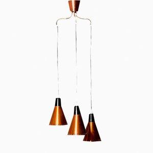 Lampe à Suspension en Laiton par Hans-Agne Jakobsson pour Markaryd, 1950s