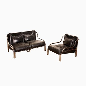 Leather Living Room Set by Gae Aulenti for Poltronova, 1960s