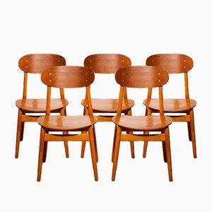 Esszimmerstühle von Alf Svensson für Hogafors Stolfabrik, 1950er, 5er Set