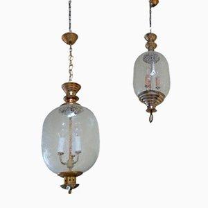 Lámparas colgantes de Luigi Caccia Dominioni para Azucena, años 50. Juego de 2