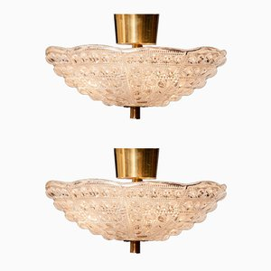 Ceiling Lights by Carl Fagerlund for Orrefors, 1960s, Set of 2