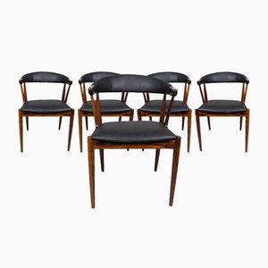 Chaises de Salle à Manger par Johannes Andersen pour Samcon, 1960s, Set de 5