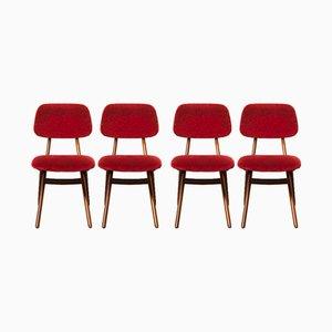 Chaises de Salle à Manger par Louis van Teeffelen pour WéBé, 1960s, Set de 4
