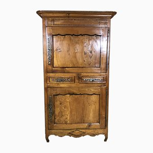 High 18th-Century Cabinet in Cherry & Elm