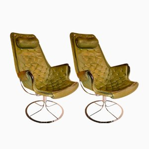 Swivel Chairs by Bruno Mathsson, 1970s, Set of 2
