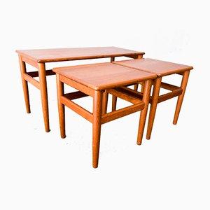 Tavolini ad incastro in teak di Salin Møbler, Danimarca, anni '60
