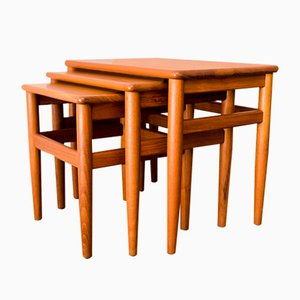Danish Teak Nesting Tables from Salin Møbler, 1960s